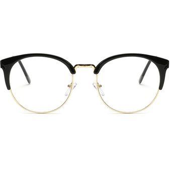 649fa019c6 Agotado Nuevo Marcos ópticos Metal Gafas Redondo Los Anteojos Hipster  Miopía -Negro + Dorado