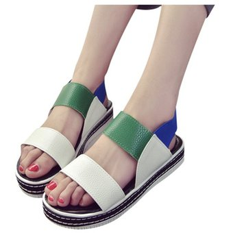 89e3a2bee2b Sandalias Para Mujer Estilo Romano Harajuku Zapato De Playa - Rojo