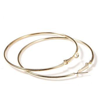 59a9c7789779 Compra Manera Grandes Pendientes De Aro Redondo Para Mujer-oro ...
