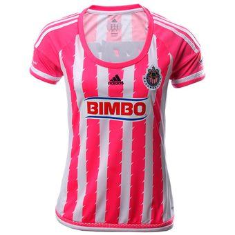 Compra Jersey Adidas De Las Chivas Del Guadalajara Para Dama Rosa ... 17294c7afd8