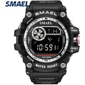 623ac4f40f03 SMAEL 8010 reloj digital de deporte impermeable para hombre plata