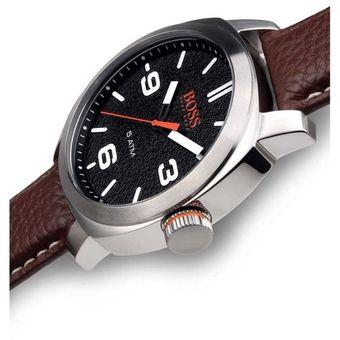 d0cbd97297a0 Reloj Hugo Boss 1513408 Cape Town Acero Inox Correa De Cuero - Marrón  Plateado Negro