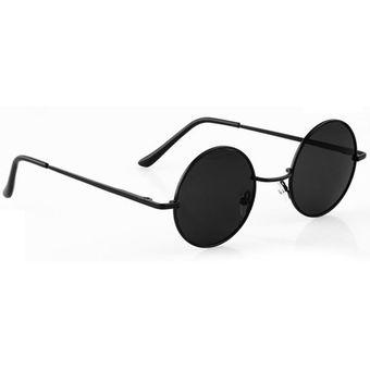 234d46bef6c7c Agotado Nueva Moda Estilo Vintage Unisex Marco Lente Retro Redondas Gafas  De Sol - Negro