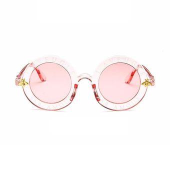 c1cec7e5a1 Bastidor Redondo gafas de sol Mujeres Hombres Español letras impresas PC  gafas Rosa transparente