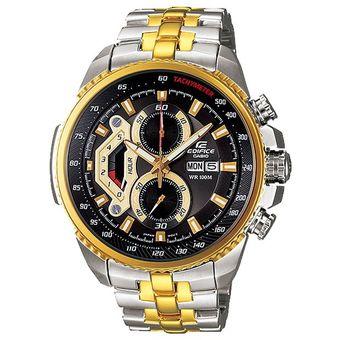 6f0ed93dd2cf Casio - Reloj Analógico Hombre Edifice EF-558SG-1AV - Plateado Dorado Y  Negro