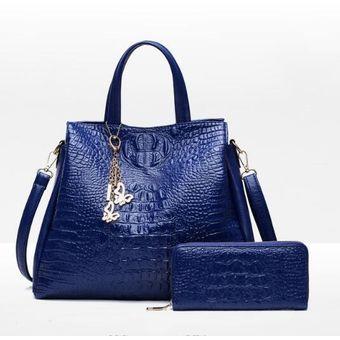 real mejor valorado En liquidación nuevo estilo y lujo Carteras Fashion-cool Mujer -azul