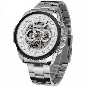 Reloj Automático Winner Diseño Skeleton Hombre – Plateado Con Blanco 072c566d691