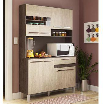 Compra Kit Mueble Cocina 8 Puertas 1 Cajón Café online | Linio Chile