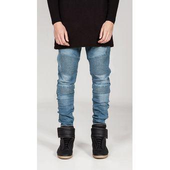 Compra Pantalones Vaqueros De Motorista Para Hombre online  fb6a964b50b