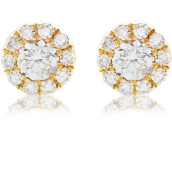 2f99705c644b Compra Aretes Oro Amarillo con 22 Diamantes 14K online