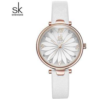 e7c3710eacaf Compra Creativo Flor Marcar Relojes Para Mujer Cuero Casual-Blanco ...
