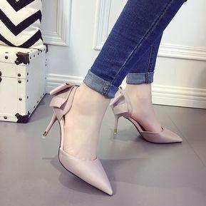 YQQ Zapatos finos, zapatos bordados, tacones altos impermeables, zapatos nacionales retro del viento , black , 38