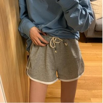 Pantalones Cortos Para Mujer De Cintura Alta Elasticos De Tela Comodos Informales Retro Coreanos Gray Linio Peru Un055fa00szu3lpe