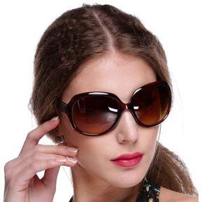 33a1b34766 Gafas De Sol Lentes Grandes Gafas De Conducción Marco Tortuga Vintage  Oversize Para Mujer - Marrón