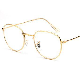 c367e69c7b68e Agotado Retro estilo aviador moda gafas estructura de metal gafas de lente  transparente para hombre   mujer