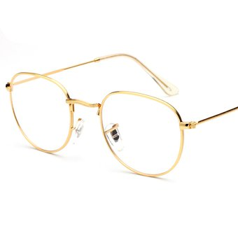 6cf89ecfe10 Agotado Retro Estilo Aviador Moda Gafas Estructura De Metal Gafas De Lente  Transparente Para Hombre   Mujer