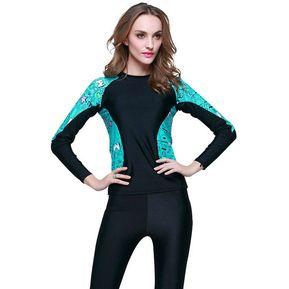 059910d675217 Traje De Ba o de Mujer Deportivo Ropa de Surf Color Negro Azul