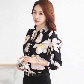 c42a17607ec42 Blusa Casual Estampada Elegante Impresión Floral Camiseta Estore Para Mujer