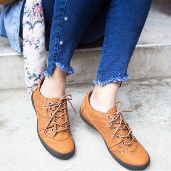 Marca Zapato Para Zapatillas Compra Sin Maribu De Cuero Mujer Taco fgHHqp