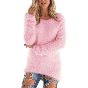 1e775eef659a Suéter Mujer Jersey O-neck De Mujer Otoño Invierno Sueter Largo Mujer