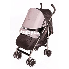 cfaf4a8f0 Coche Bastón Ebaby TRAVIS 214-2 /Reclinable+Cubrepies - Gris