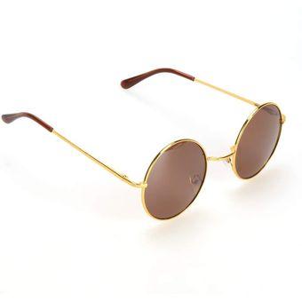 6d15b68d20 Agotado Gafas De Sol Lentes Redondos Moda UV Para Mujer Hombre Unisex - Café