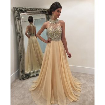 e5a7f9a0e38 Compra Vestido formal de gasa con lentejuelas Vestido largo de noche ...