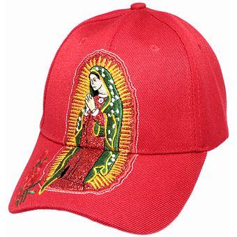 Compra Gorra Lisa Virgen De Guadalupe Y Una Ramo De Rosas-Color Rojo ... 4c0b18aabca