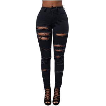 Pantalones Vaqueros Rasgados Para Damas Pantalones Rasgados De Talla Grande Pantalones Lapiz Elastico Leggings Jeans Para Mujer Negro Blanco D3 Black Linio Mexico Ge598fa1ng9sklmx