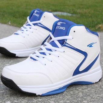 Blanco Para Hombre Azul Baloncesto Zapatillas LzSUVGpqM
