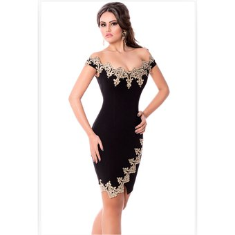 6755a8e0af Compra Vestido Casual Fashion-cool Mujer Cuello V Negro online ...