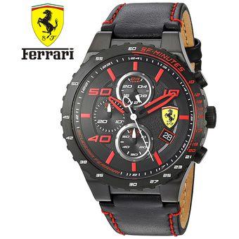6b063923ff9e Agotado Reloj Scuderia Ferrari Speciale Evo 0830363 Acero Inox Correa Cuero  - Rojo Negro