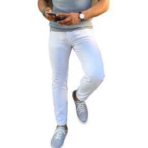 9cdd9a92b9 Jeans Skinny Strech Para Hombre OutFit Blanco