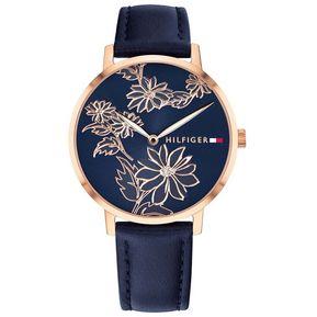 dc9bde0b912a Reloj Análogo Tommy Hilfiger Mod  1781918 color Azul   Oro Rosa para Dama