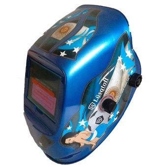 Máscara Fotosensible Soldar Lusqtoff Mig Mag Tig Arco Eléctrico-Azul