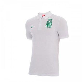 Compra Camiseta Tipo Polo Atlético Nacional 2017 Blanca NIKE online ... ea543096eb7d7