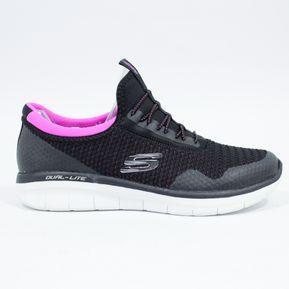 Zapatos negros con cordones formales Skechers para mujer cTZU7