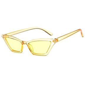 e679d96b17 Diseño Vintage Mujer gafas de sol Ojos de Gato gafas de sol Gafas Amarillo  transparente