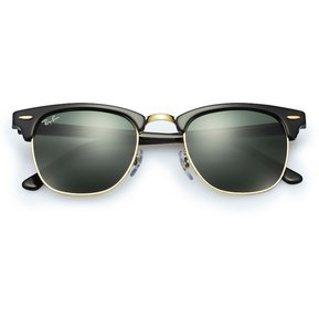 0632b685c4f9a Gafas de Sol Ray Ban Clubmaster 3016 W0365 Negro Verde 51mm