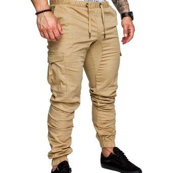 Primavera De Novedad Pantalones Deportivos Elasticos Para Hombre De Color Solido Pantalones De Moda Para Jovenes Mkx040 Wot Khaki Linio Mexico Ge598fa0rd89jlmx