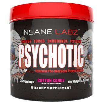 c7166f9c1 Pre-entrenamiento (oxido nitrico) psychotic sabor Cotton Candy 35 serv. Insane  Labz