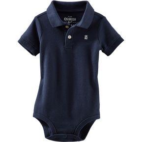 db896f72475f7 OshKosh - Polo Piqué de Algodón para Bebé Niño - Azul
