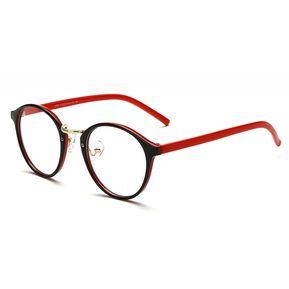 Agotado Vintage ópticos Gafas Redondo Los Anteojos Grande Marco Uni Estudiante  Miopía -Negro Rojo 701e0d5e31d9