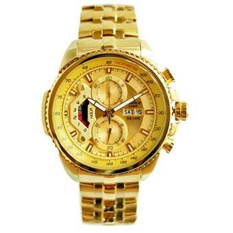 9da6be63a638 Compra Casio - Reloj Analógico Hombre Edifice EF-558FG-5AV - Dorado ...