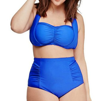3976c6169daa ER Nuevo Estilo Brasil Traje De Baño Sexy Traje De Baño Color Puro Señoras  Bikini L-El Azul Brillante