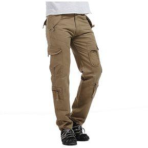 Militar Pantalones Hombres Al Aire Libre Casual Táctico Pantalones  Primavera - Marrón 41c25941f155
