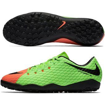 release date: da7c5 a3186 Agotado Guayos Fútbol Hombre Nike HypervenomX Phelon III TF -Verde Con  Naranja
