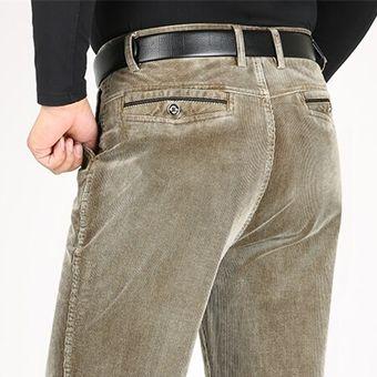 Pantalones De Pana Para Hombre De Pantalones Informales Gruesos De Otono Invierno Pantalones De Algodon De Longitud Completa Rectos Sueltos Xyx A88 6 Beige Linio Colombia Ge063fa0bkydnlco