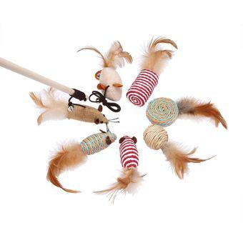 Compra Mascotas Juguetes Interactivos De Varitas Con 7 Juguetes Para
