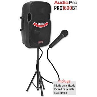 3200W Equipo De Sonido Activo + Bluetooth + Usb + Radio FM +  Audiopro + Pro1600BT- Usb - Negro
